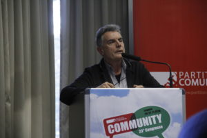 Il compagno Fosco Giannini interviene al Congresso del PC