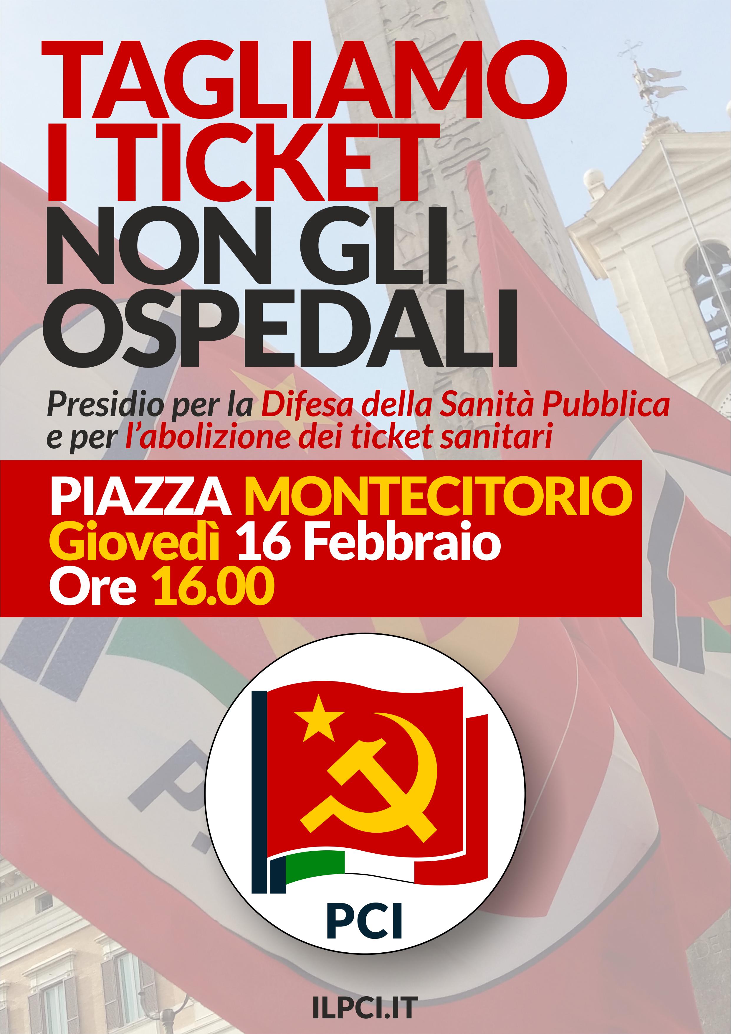 Domani a Roma alle ore 16:00 parte da Montecitorio la campagna nazionale per la sanità, pubblica, gratuita e di qualità.