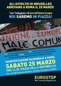 Contro la Ue, l'euro e la Nato –   IL PCI ALLA MANIFESTAZIONE DEL 25 MARZO A ROMA