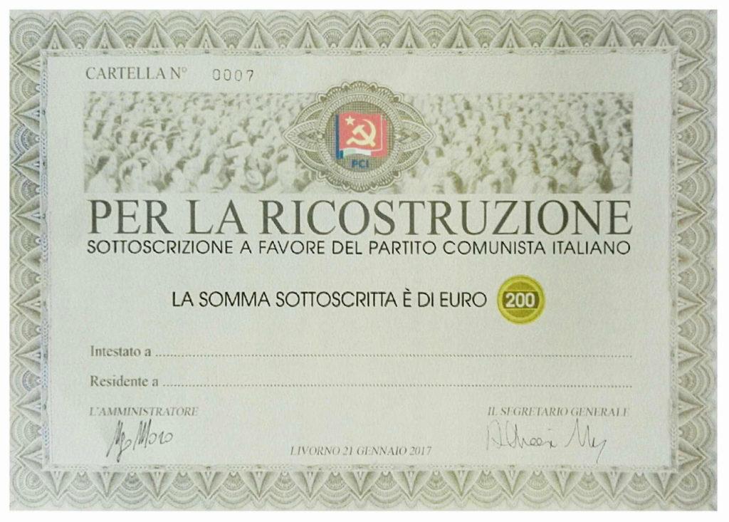 pergamena sottoscrizione PCI